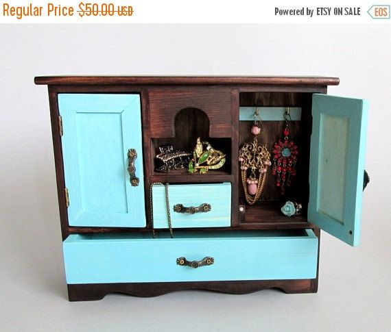 ON SALE Jewelry Organizer Jewelry Box Ladies Box by EcoWoodenArt