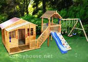 Cubbyhouse kits : Diy Handyman Cubby house : Slightly Elevated Cubbies : Chipmonk Kindy Gym