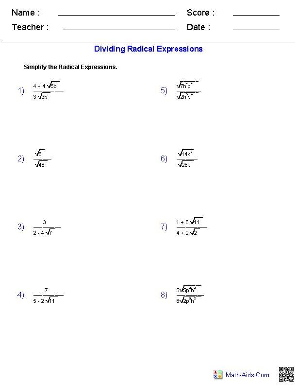 Best 25+ Radical expressions ideas on Pinterest Simplifying - algebraic multiplication worksheet
