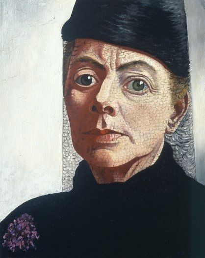 Self portrait (1943-44) by Dutch painter & lithographer Charley Toorop (1891-1955). via Kröller Müller Museum