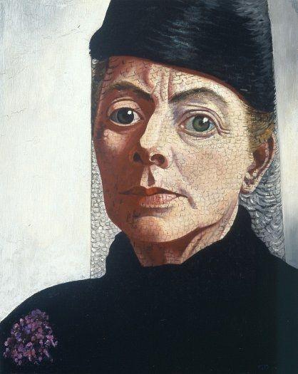 Self portrait (1943-44) by Dutch painter & lithographer Charley Toorop (1891-1955). via Kröller Müller Museum