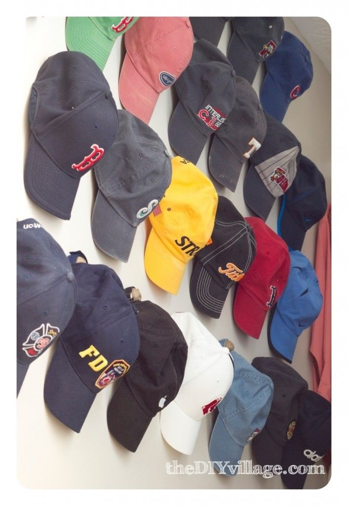 hang hats without drilling into the wall.