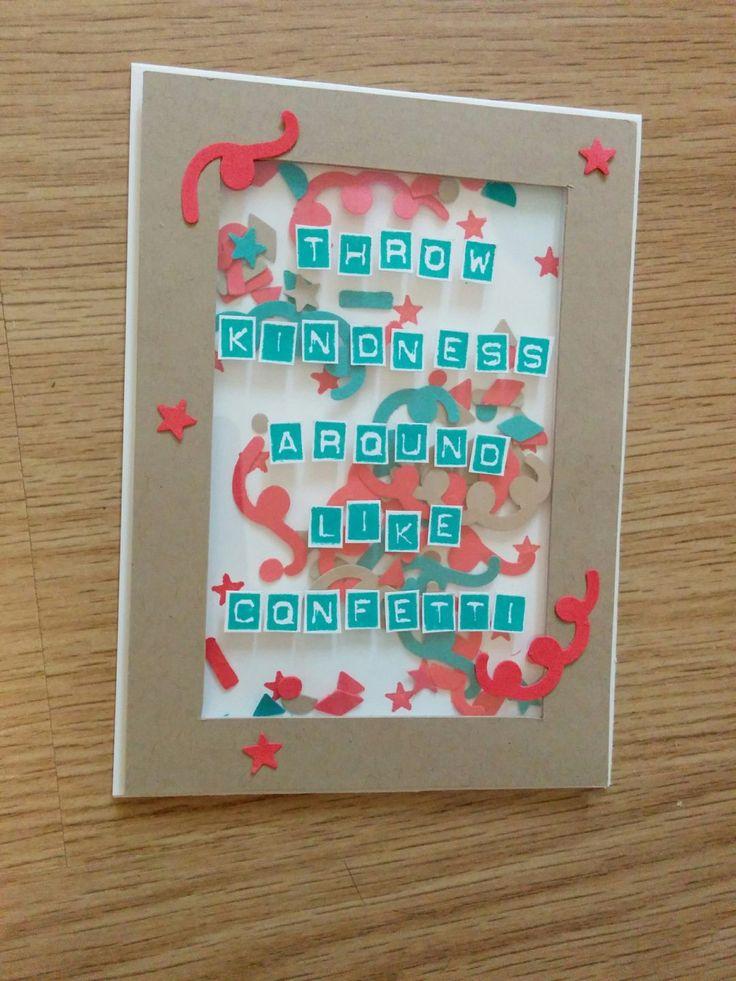Throw Kindness Around Like Confetti Shakerkaart - Het Knutsellab - Stampin Up #stampinup #crafts #knutselen #stempelen