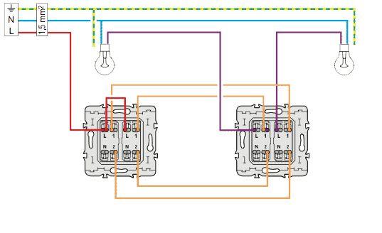 câblage electrique du double va et vient