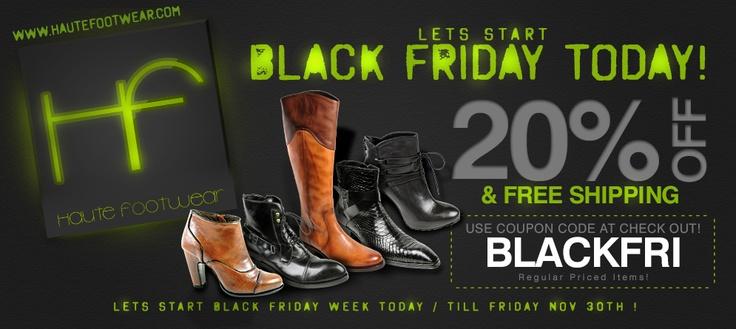 Balck Friday 20% Discount!