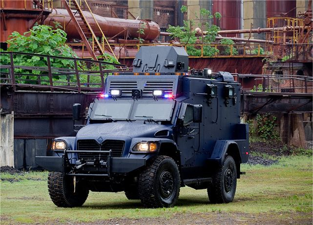 Navistar Defence Canada, Inc.'s Royal Canadian Mounted Police (RCMP) Armoured Personnel Carrier (APC).