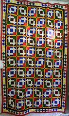 Fully hand-stitched patchwork Meghwar Tribal Ralli/quilt, Tharparker Desert, Sindh, Pakistan