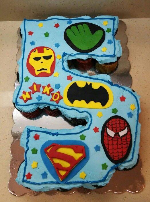 Iron Man Pull Apart Cupcake Cake