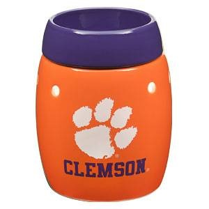 Clemson University Tigers. This is the safe (without the safety risks of a burning candle ), wickless alternative to scented candles. This wickless concept is simply decorative ceramic warmers designed to melt scented wax with the heat of a light bulb instead of a traditional wick and flame.: Burning Candles, Lights Bulbs, Scentsy Warmers, Scented Candles, Clemson Scentsy, Clemson Tigers, Ceramics Warmers, Scentsy Pots, Clemson Universe