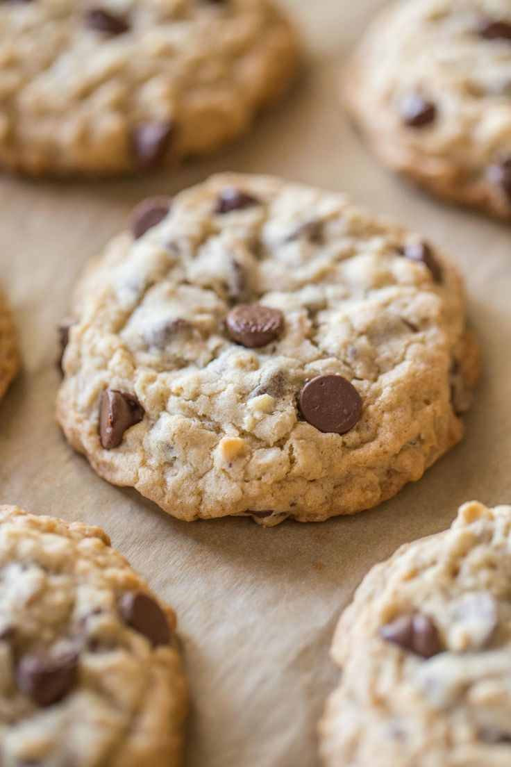 Big, thick, soft chewy Oatmeal Chocolate Chip Cookies, just like you'd find at your favorite bakery!