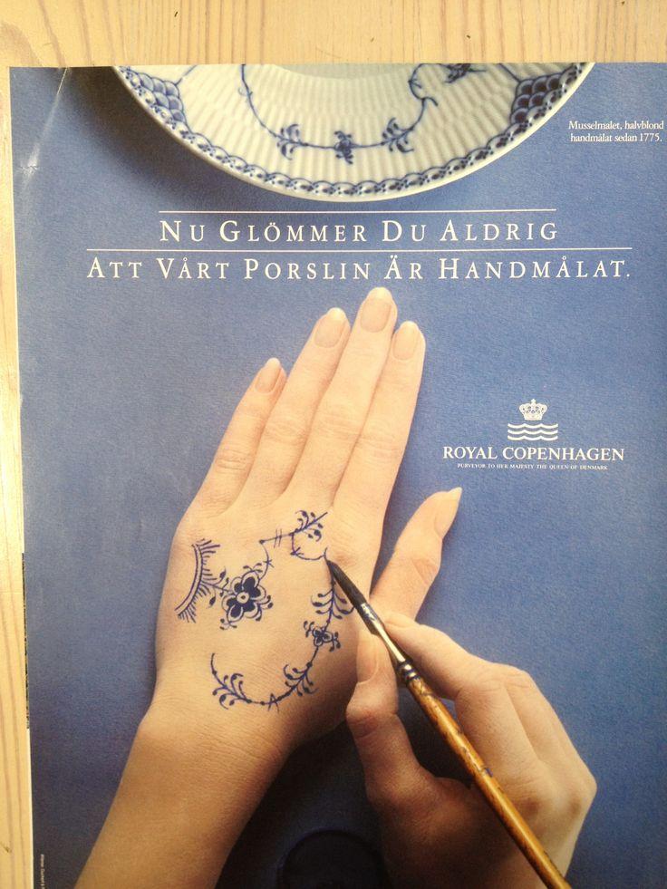 Royal Copenhagen ad from 1992 issue of Damernas Värld. Would make a lovely tattoo!