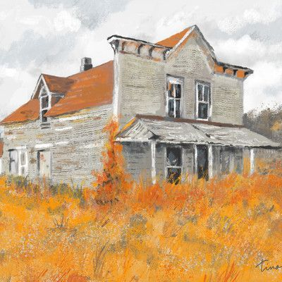 """Tina Beans 'Old Western Store Front' Painting Print on Canvas Size: 30"""" H x 40"""" W x 0.75"""" D"""