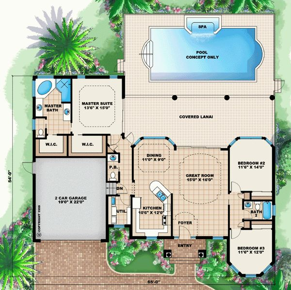 43 best House Plans images on Pinterest | House blueprints, House ...