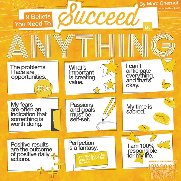 9 Beliefs You Need to Succeed At Anything #infographic