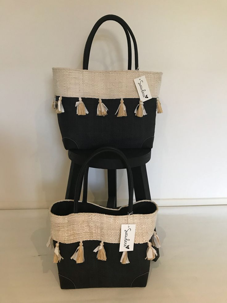 🖤Another new addition to our Bags/Baskets Collection.  The Sorrento Basket. Spoilt for choice - Large or Medium.  Gorgeous two tone Natural/Black with tassels feature.