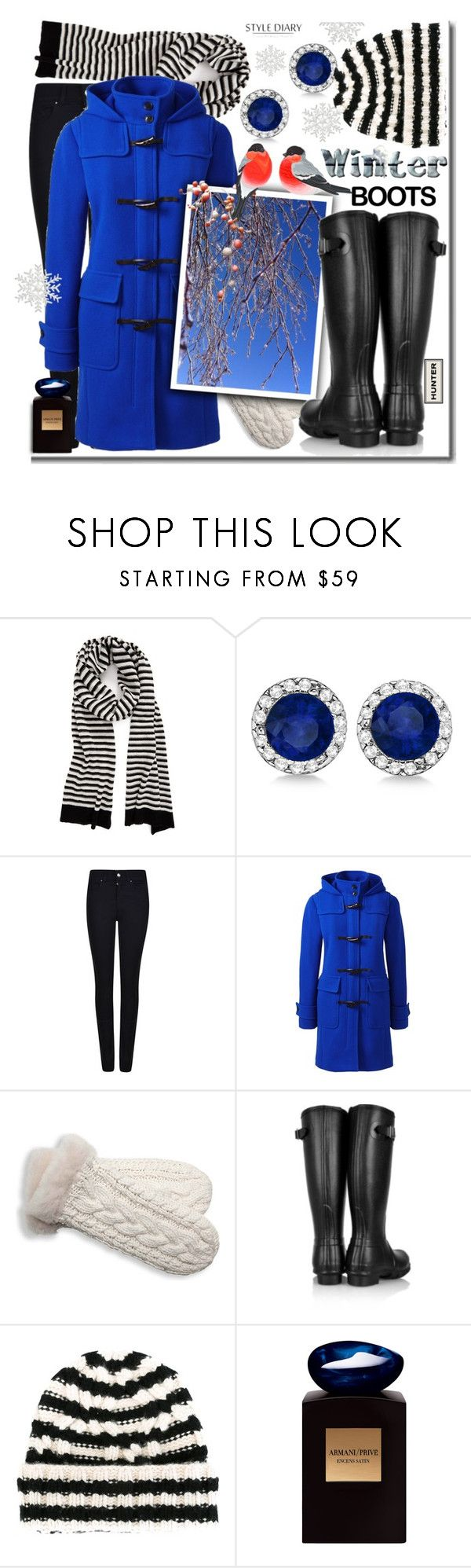 """""""Perfect winter boots: Hunter tall shearling-lined Wellington boots"""" by rinagern ❤ liked on Polyvore featuring Rebecca Minkoff, Allurez, Armani Jeans, Lands' End, UGG Australia, Hunter, Warm-Me and Giorgio Armani"""