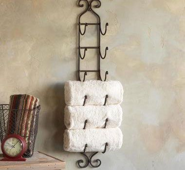 Bathroom Storage Ideas for Small Spaces - Wine Rack for Towels - Click Pic for 42 DIY Bathroom Organization Ideas