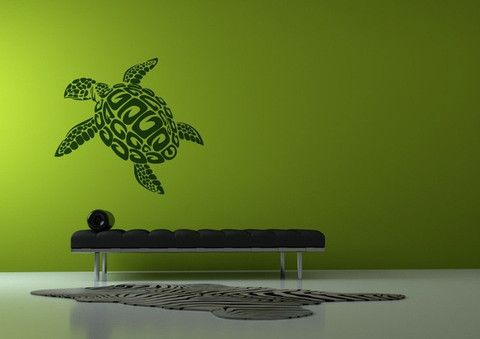Removable Sea Turtle Vinyl Wall Art Poster