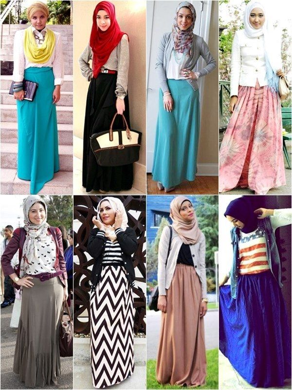 Hijab Fashion with Long Skirt #style #modesty #hijab #spring #maxiskirt #hijabi #spotted #inspiration