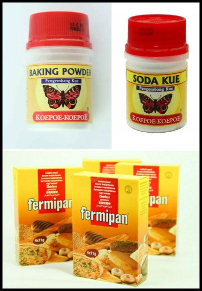 Apa perbedaan antara Baking Soda (Soda Kue), Baking Powder dan Fermipan?