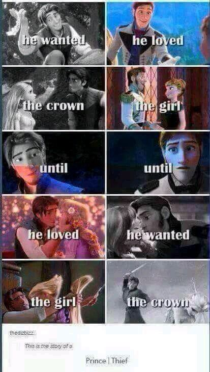 No... Flynn is good, Hans literally only wanted the crown. He never loved Anna. He's a real Disney villain.