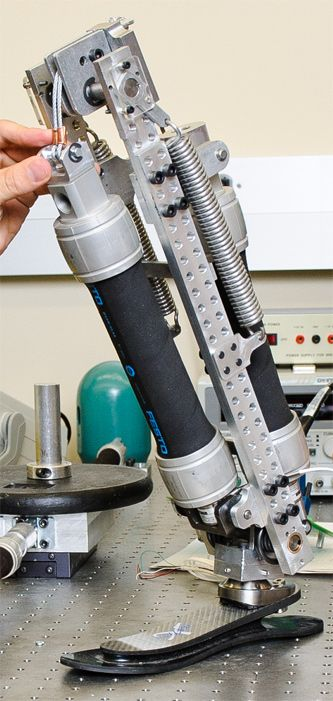 This new artificial limb is powered by rocket fuel. A team of mechanical engineers has created an prosthetic leg that is powered by a special type of liquid fuel called a monopropellant — the same kind of fuel that gives rockets their thrust. The new device could usher in the next generation of prosthetics — powerful and light-weight artificial limbs that will look and function more like the real thing.