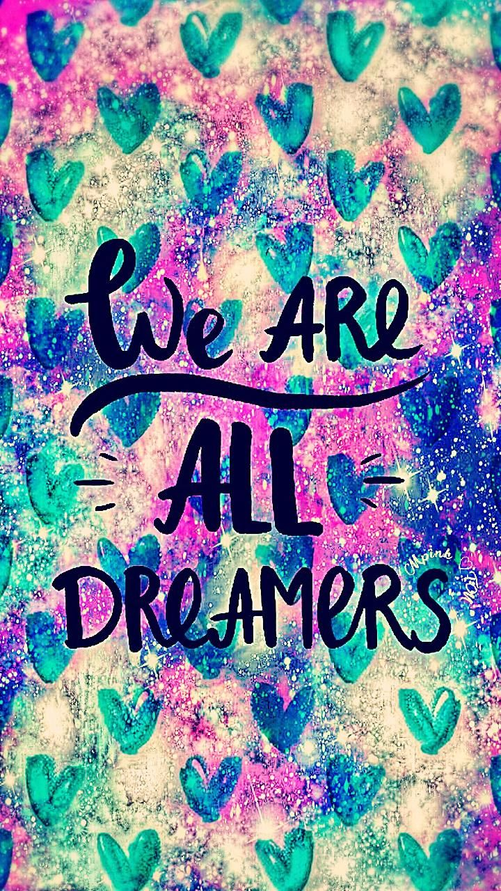 We Are All Dreamers Galaxy Wallpaper Androidwallpaper Mrx Pink Brown Woman Branded Tanks Tanktop Wanita Iphonewallpaper Sparkle Glitter Lockscreen Pretty Magical Cute Girly