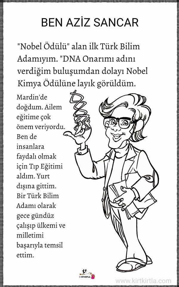 Aziz Sancar Büyüklerimiz Türk Büyükleri Pinterest Science