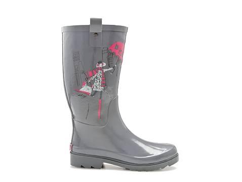 Bottes de pluie trop mignonnes. C'est pas parce qu'il pleut que c'est triste!    DKNY Niagra Rainboot. $59.95