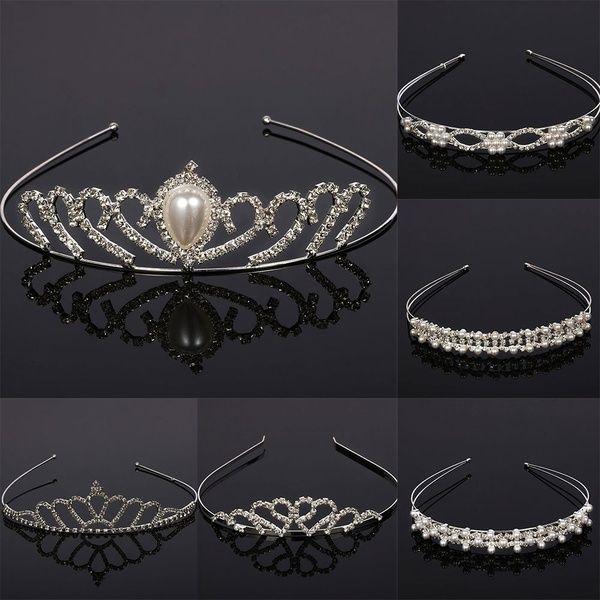 Wedding Bridal Crystal Tiaras Crown Love Heart Headwear Bride Hair Head Ornament