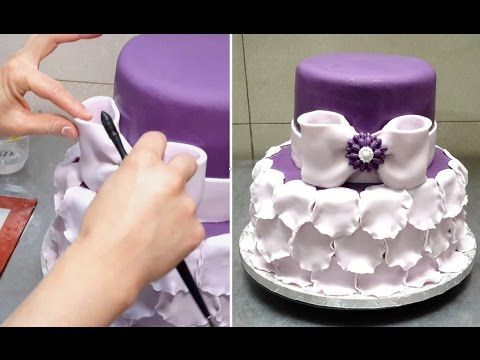 Simple Petal Ruffle Cake. Fast And Easy To Make. Tutorial by CakesStepby...