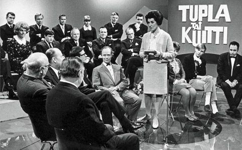 1960-luvulla, Tietokilpailu Tupla tai kuitti, juontaja Kirsti Rautiainen.