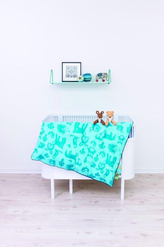 juno säng, sebra säng, växasäng, spjälsäng, fin spjälsäng, rund spjälsäng / miniroom.se