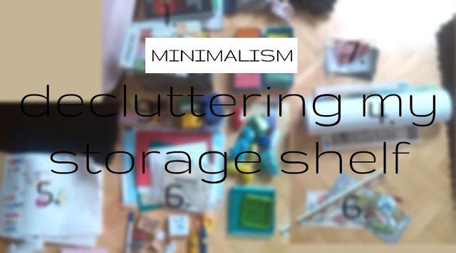 plannedpastel: decluttering my storage shelf (without waste)