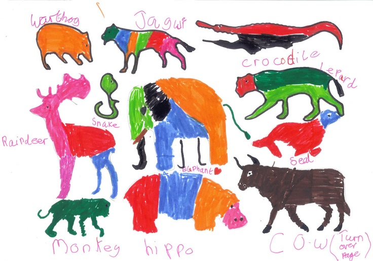 A fabulous #art piece by Sophie and Heather, sent to WWF-UK. #kids
