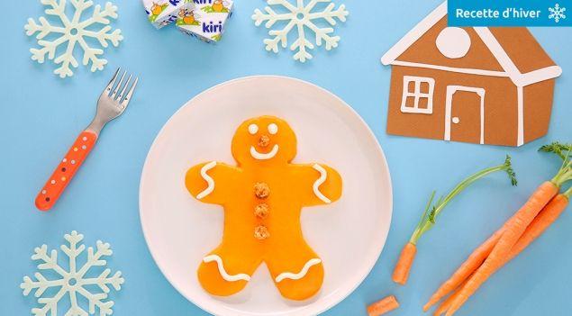 Purée carottes, crème Kiri® et pain d'épices - Purée enchantée Kiri®