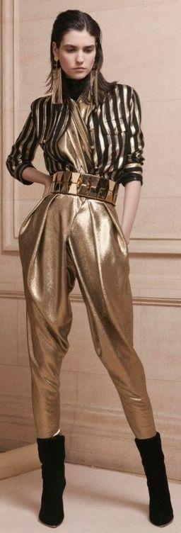 Balmain, 2013 - wow!  MC Hammer's pants have returned!  LOL.