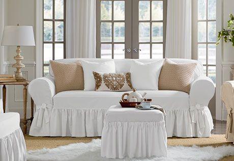 sweet white sofa cover   1000+ images about farmhouse decor/ideas on Pinterest