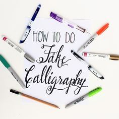 How To Create Fake Calligraphy • Free tutorial with pictures on how to draw a piece of calligraphy in under 30 minutes