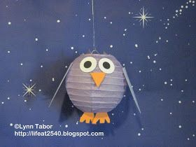 Twenty Five Forty: Paper lantern owl