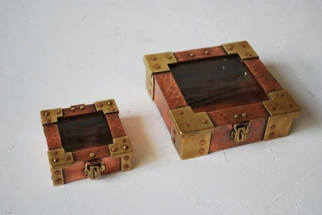 銅の宝箱(中サイズ ※右側) | HandMade in Japan 手仕事の新しいマーケットプレイス iichi