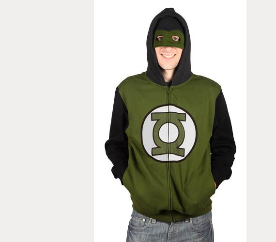 Green lantern hoodie with mask