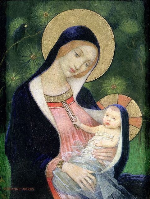 """Marianne Stokes (Austrian, 1855-1927), """"Madonna of the Fir Tree"""", 1925   Flickr - Photo Sharing!"""
