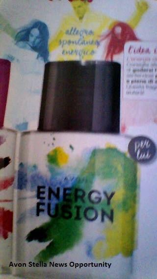 AVON C9 - Effetto SUMMER SHINE -  * VIVI qui e ORA ! *  NOVITA' PER LUI - ENERGY FUSION SOLI 6,50€ l'uno   Quest'Estate condividi la Tua ENERGIA POSITIVA !  Allegro - Spontaneo - Energico -  - ENERGY FUSION Eau de Toilette Spray 50 ml   con note di Limone - Cardamomo - Vetiver Haitiano