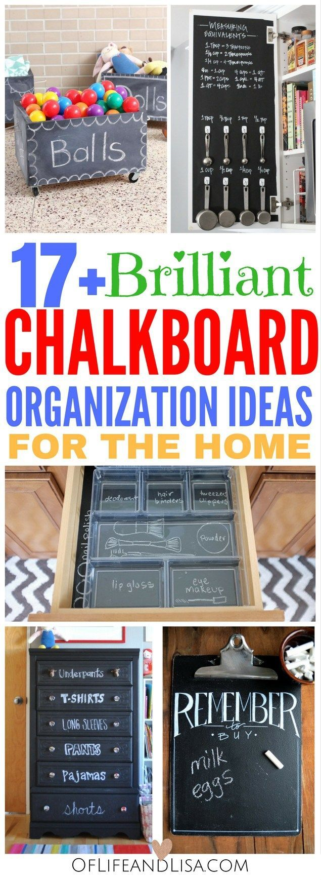 These chalkboard organization ideas are really sweet! I can not wait to try some of these.