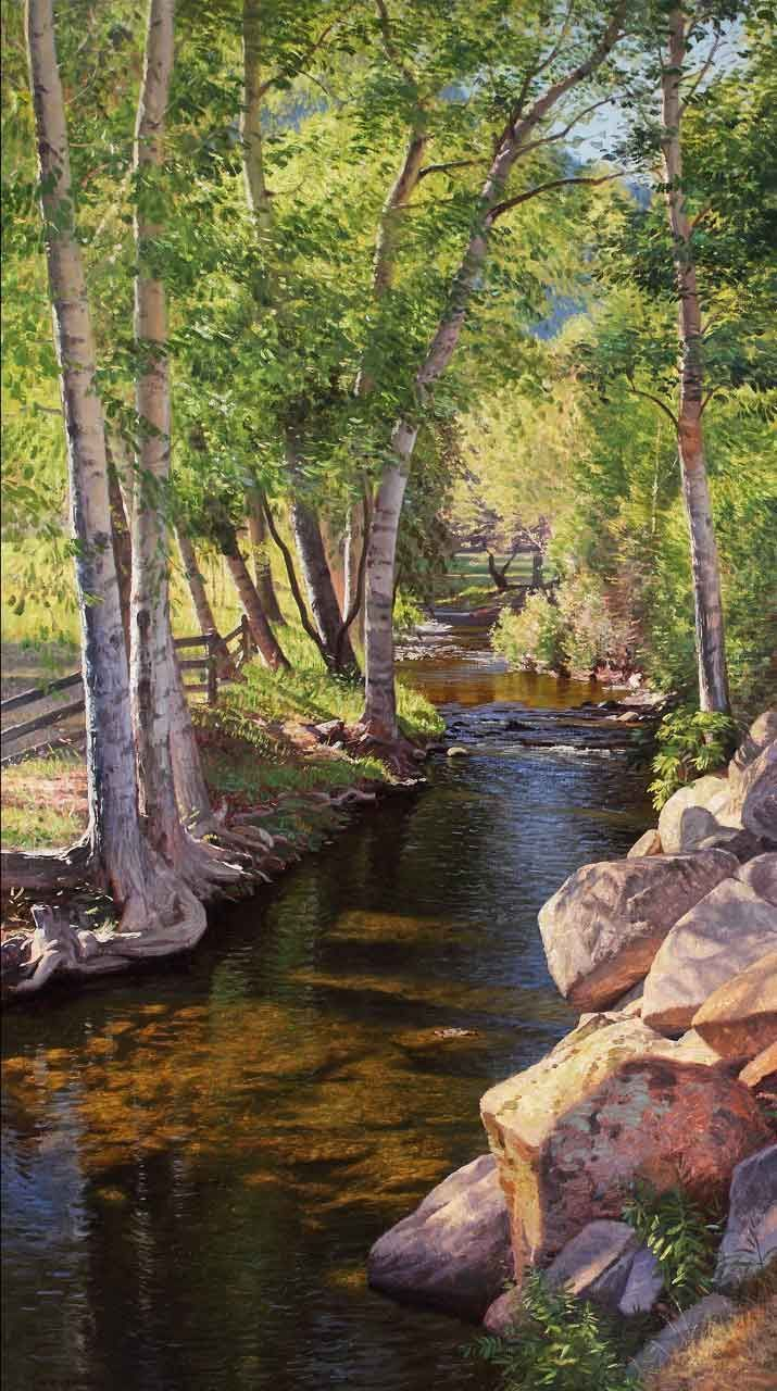 JAY MOORE MALLETTE'S VIEW 70″ x 40″ | Oil on canvas                       …