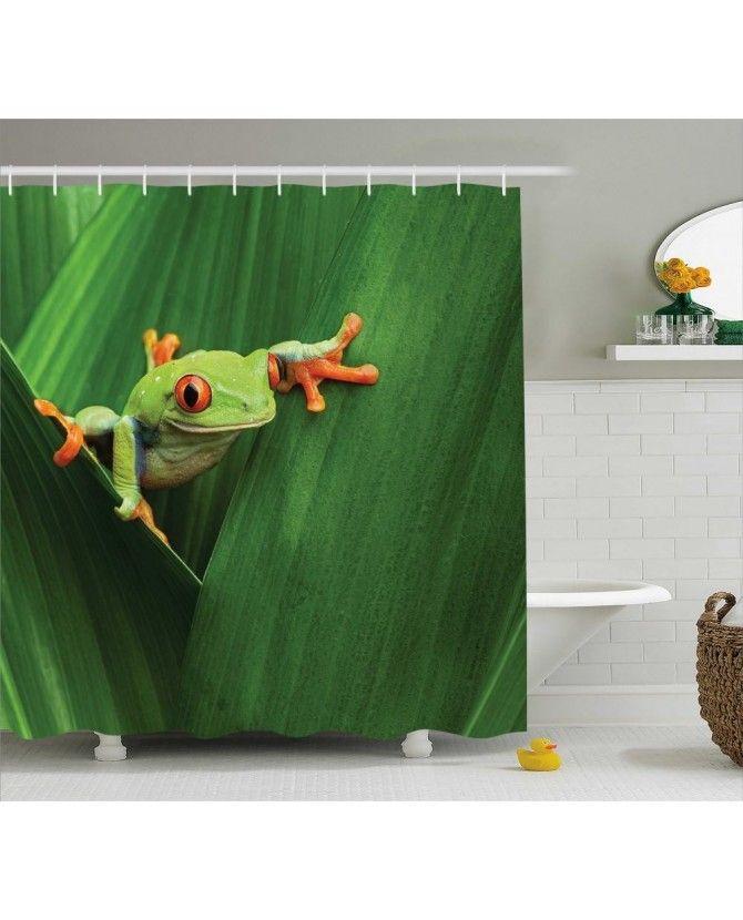 Green Shower Curtain Exotic Wild Macro Leaf Print For Bathroom ve diğer fon perde modelleriyle ücretsiz kargo ve uygun fiyata Orange Venue'da.Ambesonne