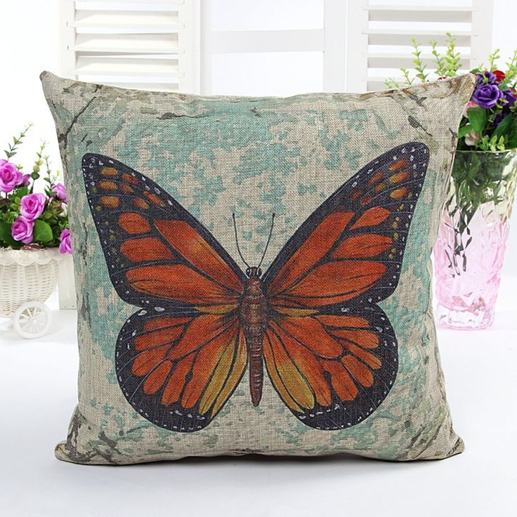 Personalized Butterfly Heart Throw Pillow Cover : 45 best Butterfly Home Decor images on Pinterest Butterflies, Cushions and Bedding