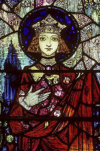 Harry Clarke - South Window (detail of St Elizabeth), Sturminster Newton, 1921