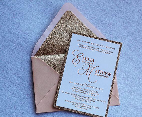 21 best Glitter Invitations images on Pinterest Glitter